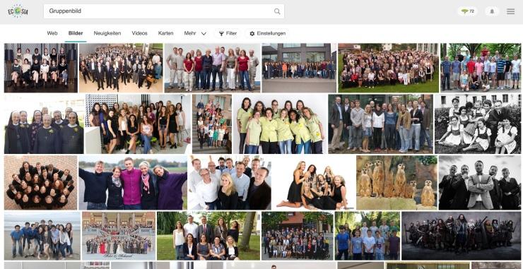 Bildsuche Gruppenbild erste Ergebnisse